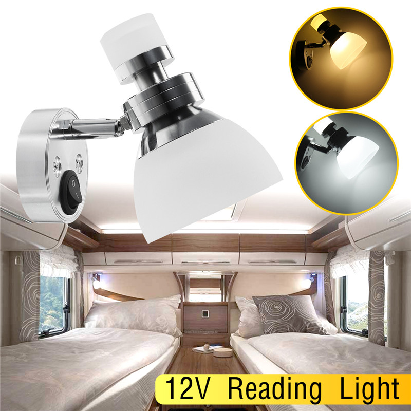 12V Wall Lamp Reading light interior LED Book lamp for Home Bedroom Car LED Spot Light white Universal Dome light cnsunnylight led car reading light interior luggage door lamp free refit portable emergency light for car home office bedroom