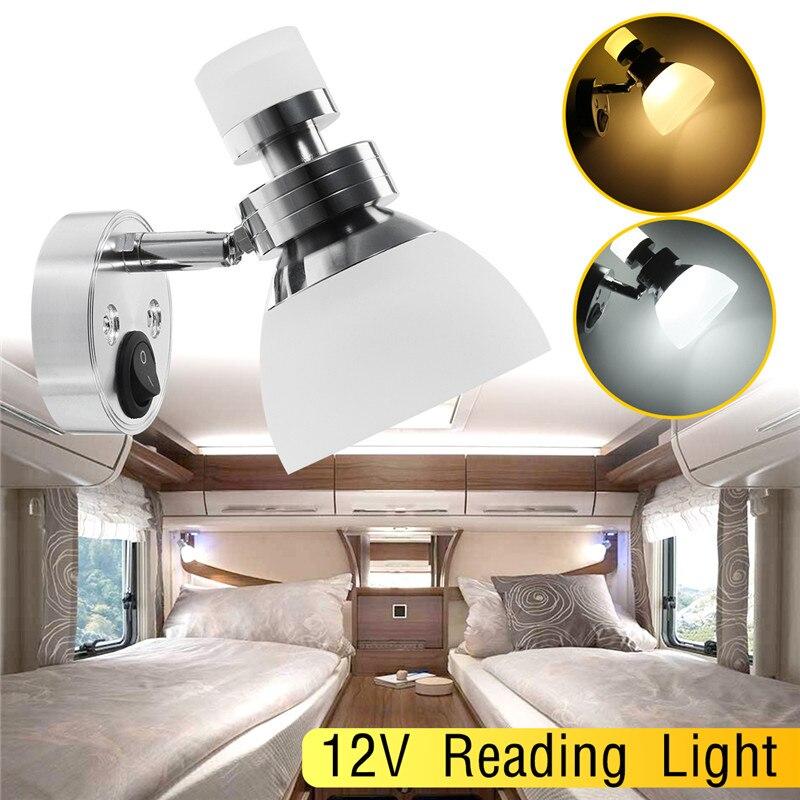 12V Wall Lamp Reading light interior LED Book lamp for Home Bedroom Car LED Spot Light white Universal Dome light