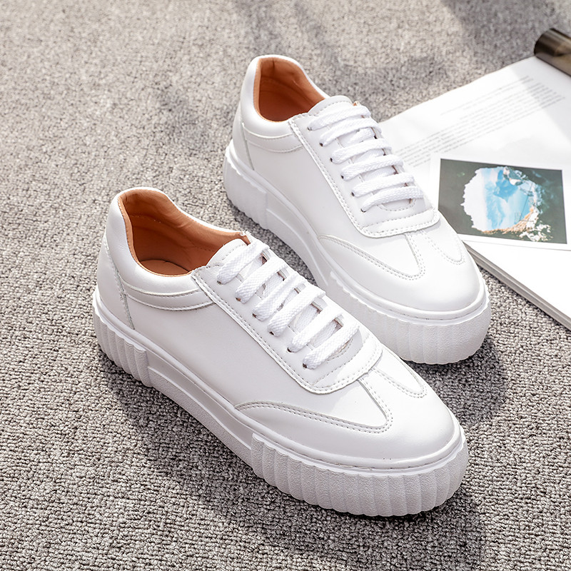 Women Flats White Shoes Fashion Trend Sewing Casual Flat Platform Shoes for Woman Lace up Soft Comfortable Non-slip Sole Shoes 7ipupas hot selling fashion women shoes women casual shoes comfortable damping eva soles flat platform shoe for all season flats