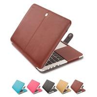 Mosiso Premium PU Leather Book Cover Clip Skin Case Cover For MacBook Pro 12 13 3