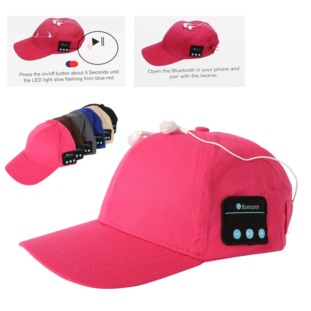 Summer Sport Bluetooth Hat Baseball Cap Wireless Smart Music Hat Speaker Bluetooth Cap with mic for phone K5 wireless bluetooth headphones music hat smart caps headset earphone warm beanies winter hat with speaker mic for sports