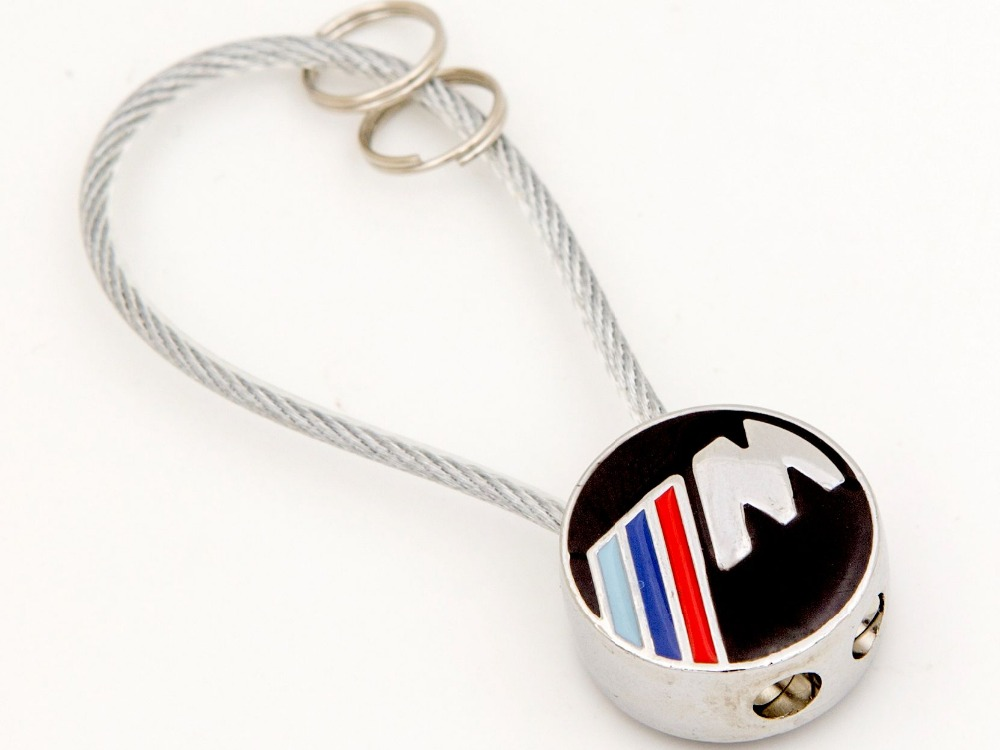 high quality wire metal car Key chain rings For BMW keychain Metal Car Logo  Keyrings Vehicle Emblem Auto Badge 4S gift 1678e285e577