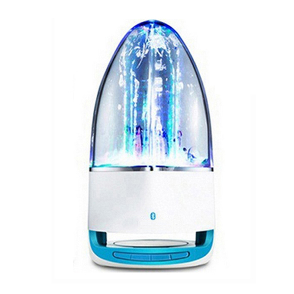 Fashion Subwoofer LED Music Fountain Water Dance Bluetooth Speaker With TF Card Slot Stereo Bass and Computer MP3 Audio Input. n11 hands waving recognition bluetooth v3 0 stereo speaker w microphone tf card slot blue