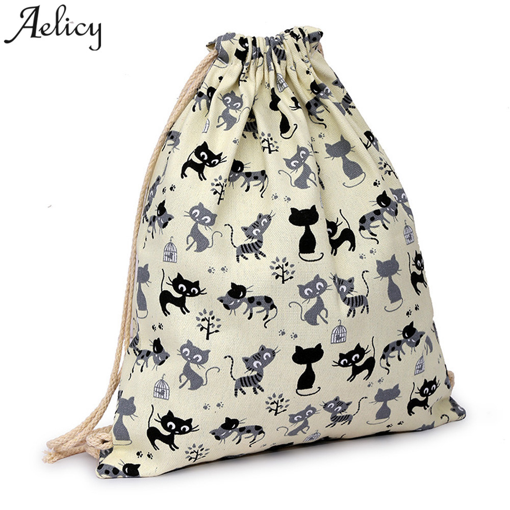 Aelicy 2018 Women Men  Canvas  3D Drawstring Cute Cat Backpack Girls Drawstring Hanging OUT Beach Travel Out BackpackAelicy 2018 Women Men  Canvas  3D Drawstring Cute Cat Backpack Girls Drawstring Hanging OUT Beach Travel Out Backpack