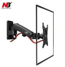 F120 NB para 17-27 polegada de ar retrátil giratória de alumínio de imprensa LCD suporte de tv de PLASMA lcd montagem na parede suporte de monitor de suporte titular