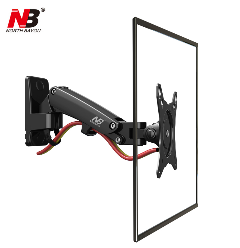 NB F120 for 17-27 inch retractable air press aluminum swivel LCD PLASMA tv bracket lcd wall mount monitor bracket stand holder