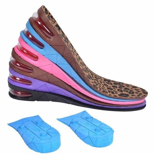 Alta Qualidade Nova 3-Layer 7 CM Almofada Da Bolha de Ar Sapato Elevador Aumento da altura Palmilhas Calcanhar Par Mais Alto Para Homens e Mulheres vendas por atacado