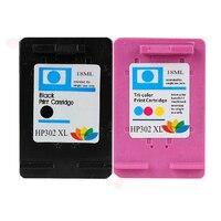 1 Set HP 302 Multipack Compatible Ink Cartridges Black Color For HP Deskjet ENVY Officejet