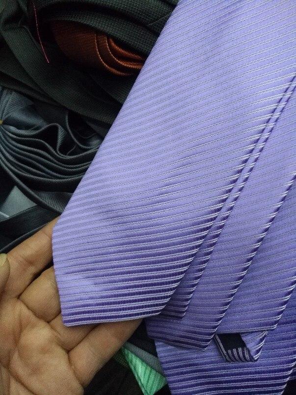 Free Shipping Cheap South korean silk commercial formal tie marriage tie 8cm tie purple stripe