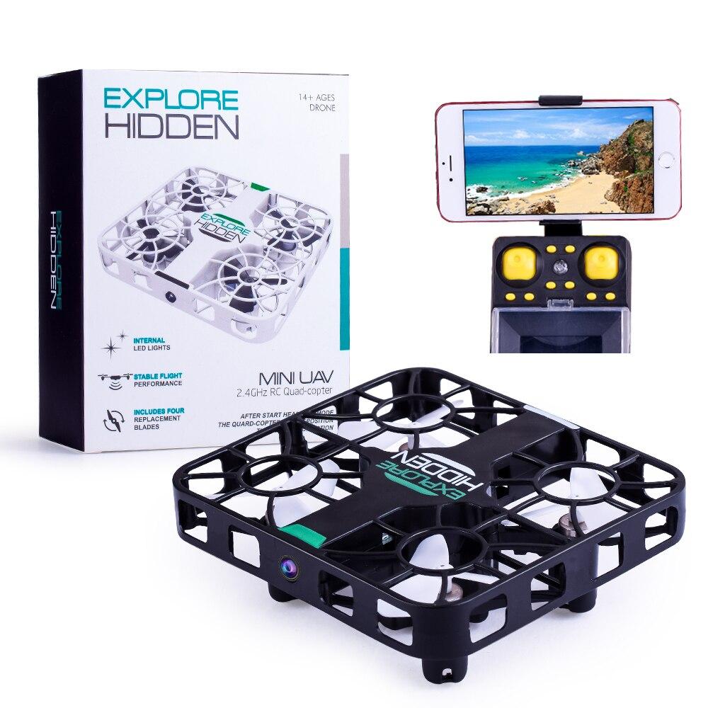 EBOYU QS003 Wifi FPV 2.4G 6 Axis Gyro 3D Flip 0.3MP HD Camera Crashworthy Structure Altitude Hold Mini RC Quadcopter Drone RTF