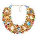 Multi-Layer Colorful Crystal Tassel  Bib Beads Women Luxury Handmade Bohemia Natural Stone Statement Collar Necklace Jewelry