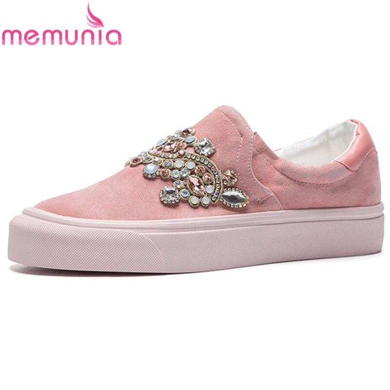 MEMUNIA Plus size 34-43 Genuine leather shoes women