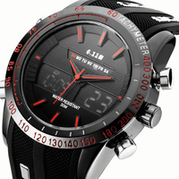 Top Brand Fashion Watch Mens Luxury Sports Watches Digital Military Men Quartz Silicone Strap Watch Male