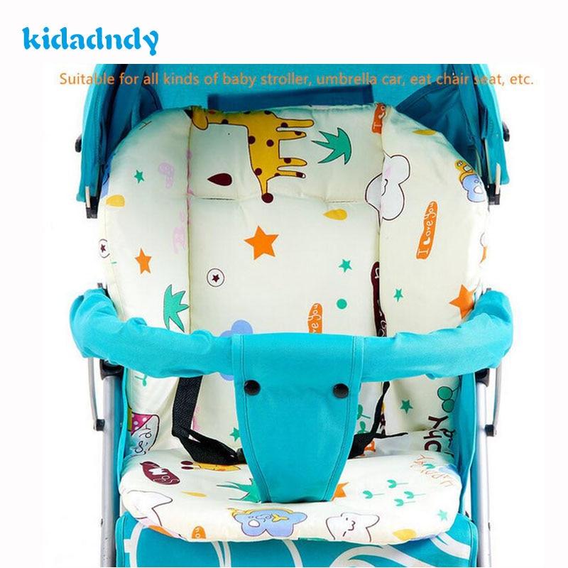 kidadndy Thicken cotton baby car seat cushion Cartoon Cart Mat Baby Stroller Baby Buggy Umbrella Car Chair To Keep Warm TCL1906R