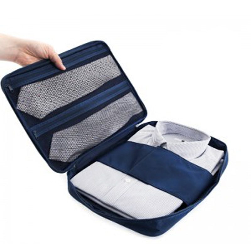 Fashion Travel Garment Tie Folder Bag Business Packing Organizers Business Travel Accessories Travel Organizer For Shirt Pants