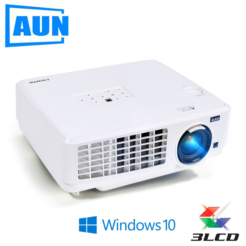 AUN Windows10 Projector, Ubeamer1S, 3LCD Projector, 4000 Lumens, 1024x768. Set in WIFI,Bluetooth, HDMI. (Optional Ubeamer1) TV