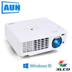AUN Windows10 Projector, Ubeamer1S, 3LCD Projector, 4000 Lumens, 1024x768. Set in WIFI,Bluetooth, HD in. (Optional Ubeamer1) TV