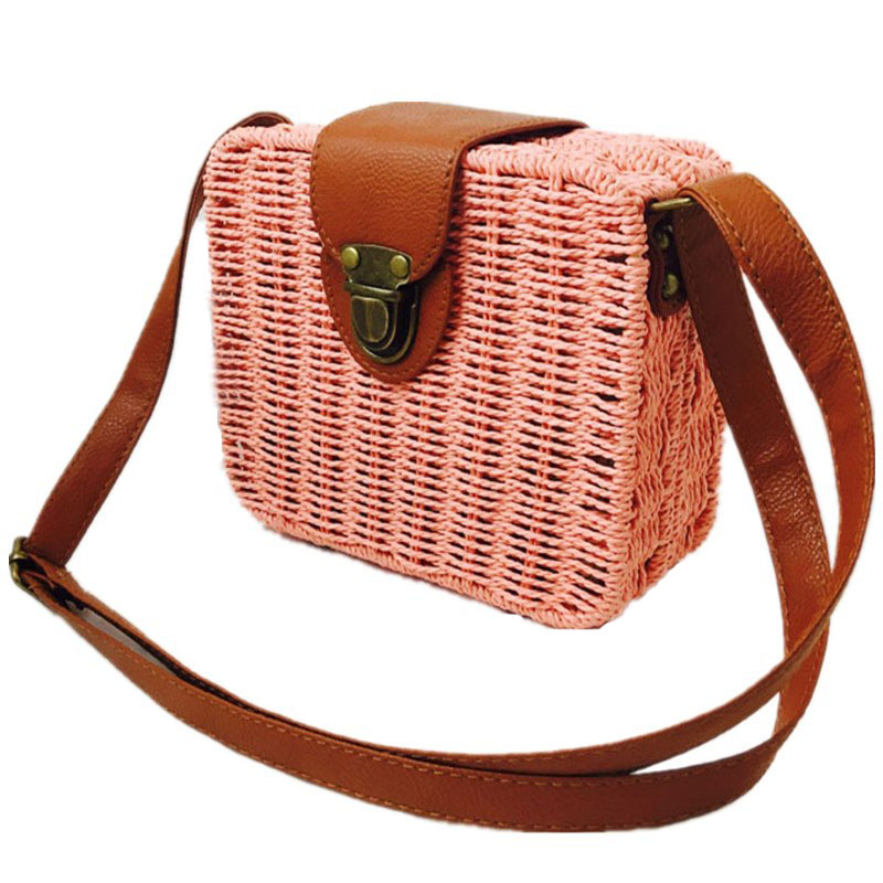 HTB1cZYxNYPpK1RjSZFFq6y5PpXaF - Fashion Mini Ladies Shoulder Bags Hand-woven Square Candy Color Straw Bag  Bohemia Beach Bag Vacation Travel Crossbody bag