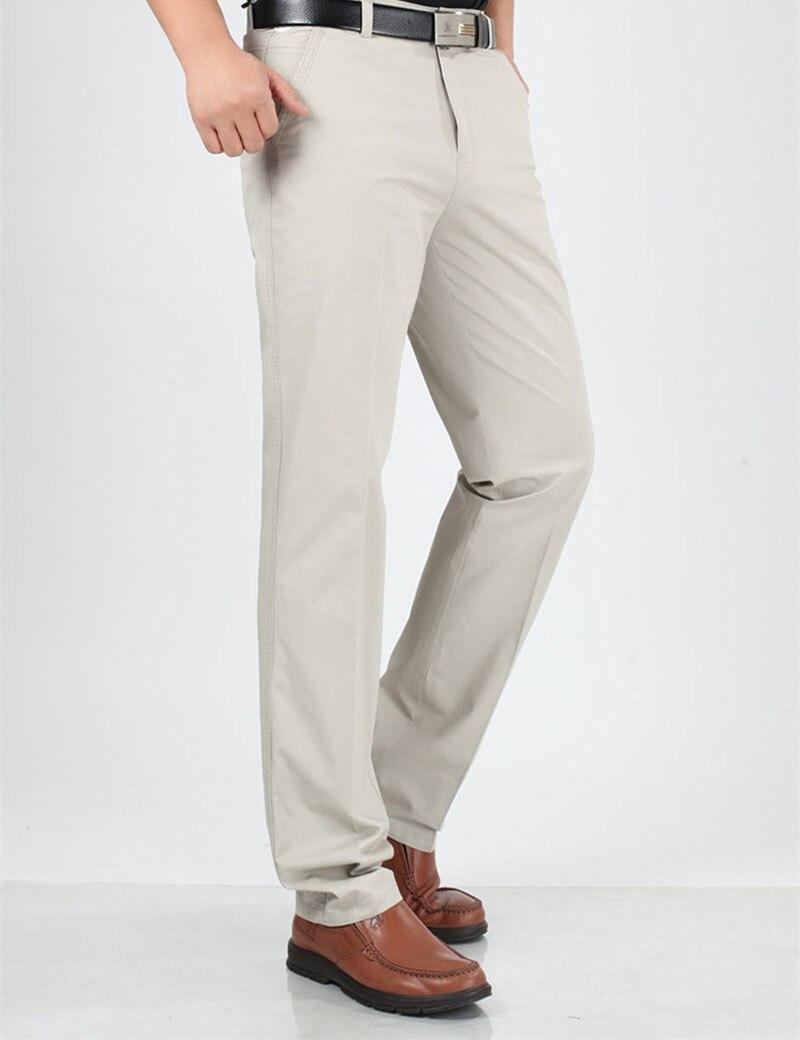 Для мужчин летние Бизнес работы хлопка прямые длинные брюки 29-40 3 цвета