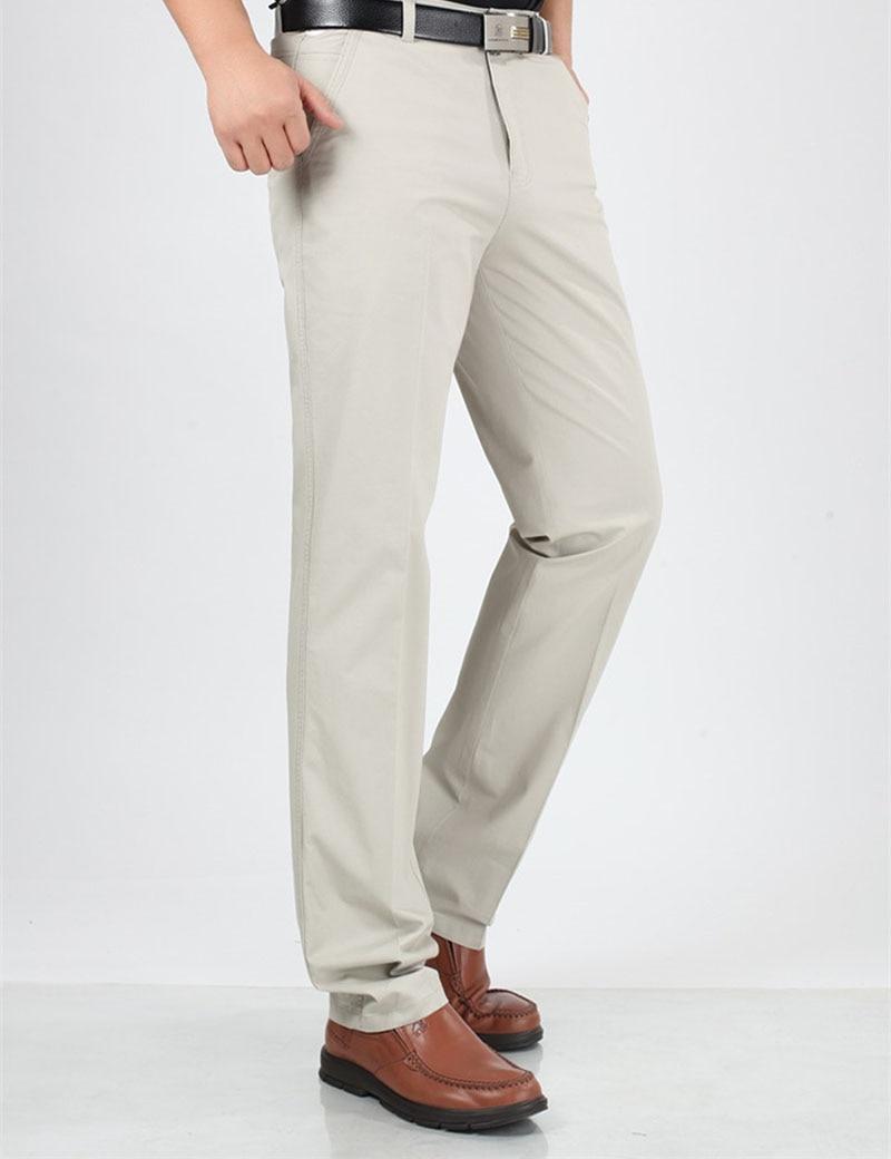 Pantalones largos de algodón de trabajo de verano para hombres de - Ropa de hombre