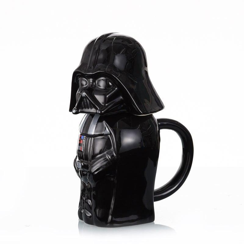 650 ml Haute Capacité 3D Star Wars Darth Vader Noir Guerrier Soldat Blanc Tasse En Céramique Café Thé Lait Tasse D'eau verres Cadeau