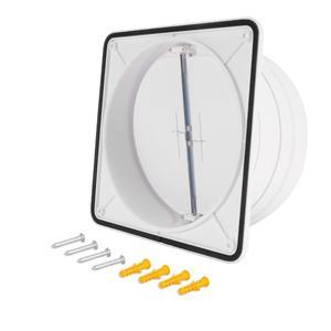 Image 5 - Hon ve Guan 150mm için 180mm çift kanatlı taslak engelleyici Backdraft damperi için Inline aspiratör fanı geri taslak deklanşör ABS hava firar