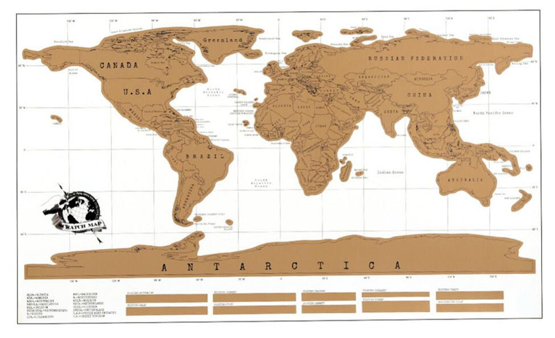 Multifuncational creative scratch world map personalized travel multifuncational creative scratch world map personalized travel log world map novelty gift home decor wall sticker 82x58cm in wall stickers from home gumiabroncs Choice Image