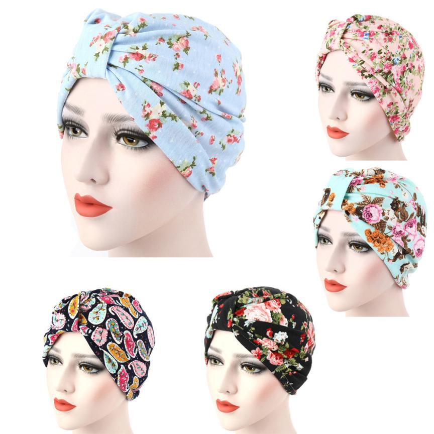 Women New Elastic Cap Turban Muslim Flowers Hat Chemo Cap Hair Loss Head Scarf Wrap Hijib Cap  Item specifics breathable Photo women s hat muslim flowers decorated beanies scarf cap two color fashion flower hat famous winds tight adjustment female hat