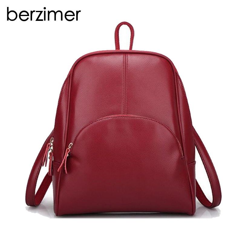BERZIMER Fashion Women Backpacks Women Bags Stylish Black Blue Yellow Wine Red Rose Pink Large Capacity Casual Bags for Women berzimer elegant vintage women shoulder bag stylish black green red orange pink shoulder stylish crossbody bags for women