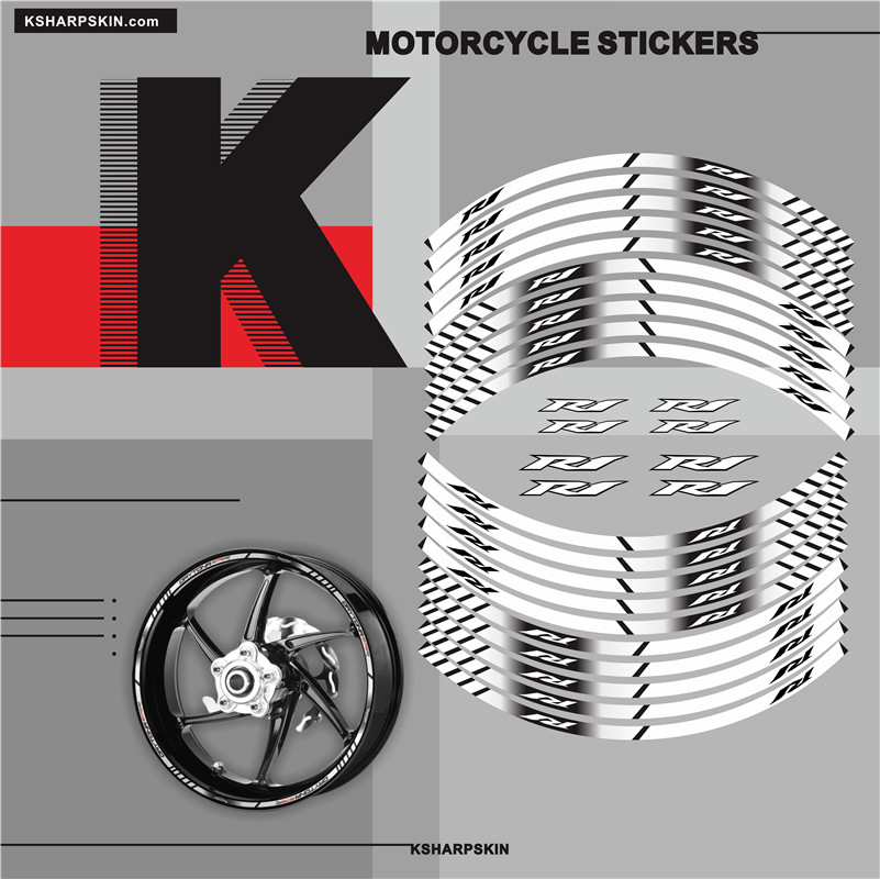 New Sale Motorcycle Inner Wheel Stickers Rim Reflective Decoration Decals For YAMAHA R1