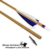 New 12PCS 30″ ID6.2MM SP500 Carbon Arrow With Feather&Changeable Points For Archery Outdoor Sport+Free Shipping