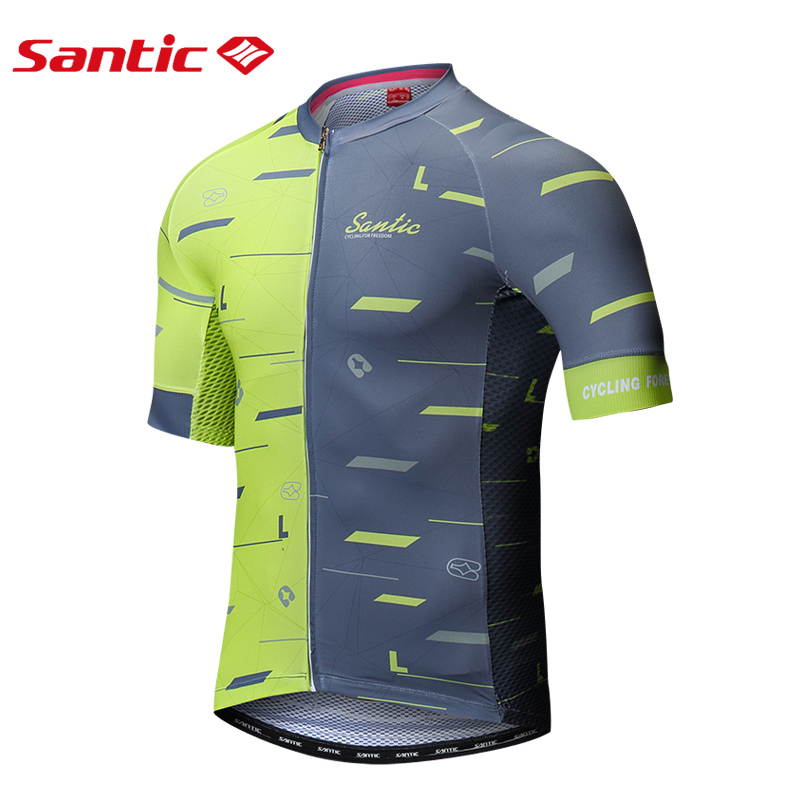 Santic Male Cycling Jerseys 2018 Pro Team Triathlon Racing Short Sleeve Clothes Motocross Jersey Summer MTB Bicycle Bike Jersey high quality hello kitty cycling jerseys mtb road bike clothes short sleeve large size sports jersey for girls