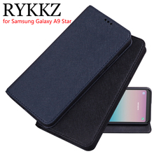RYKKZ Luxury Leather Flip Cover For Samsung Galaxy A9 Star Mobile Stand Case SM-G8850 Phone 6.3