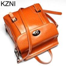 Kzni натуральная кожа кошелек crossbody Наплечная Сумка Женский рюкзак мешок основной Femme De MARQUE L123130