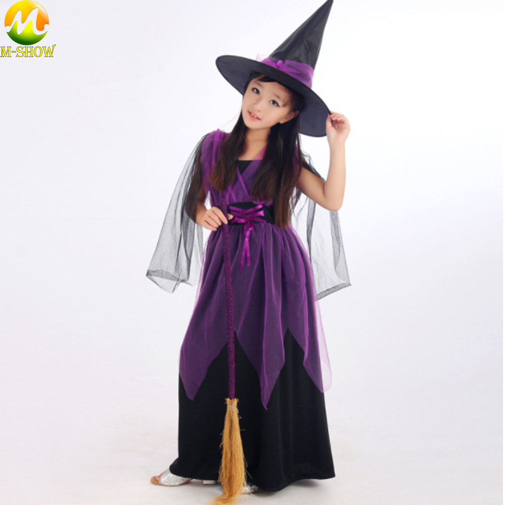 Anime Witch Cosplay Costume Girls Gift Witch Dress And Hat Cosplay Dance Performance Clothing For Halloween
