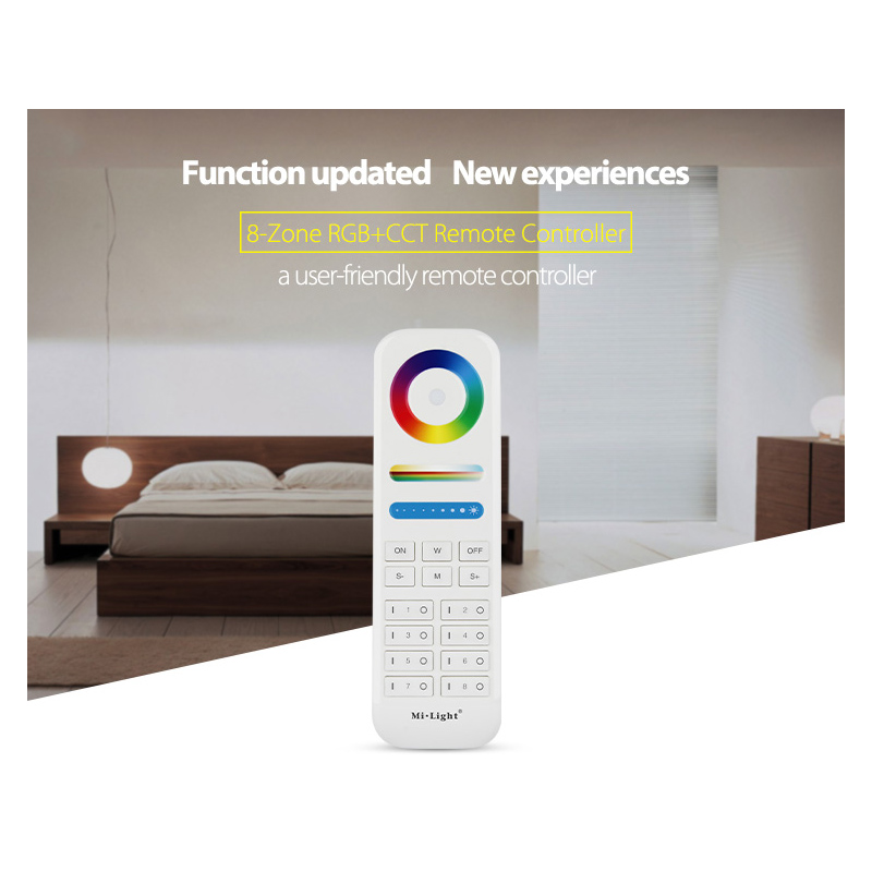 Image 3 - B8 Wall mounted Touch Panel;FUT089  8 Zone remote RF dimmer;LS2 5IN 1smart led controller for RGB+CCT led strip Miboxer-in RGB Controlers from Lights & Lighting