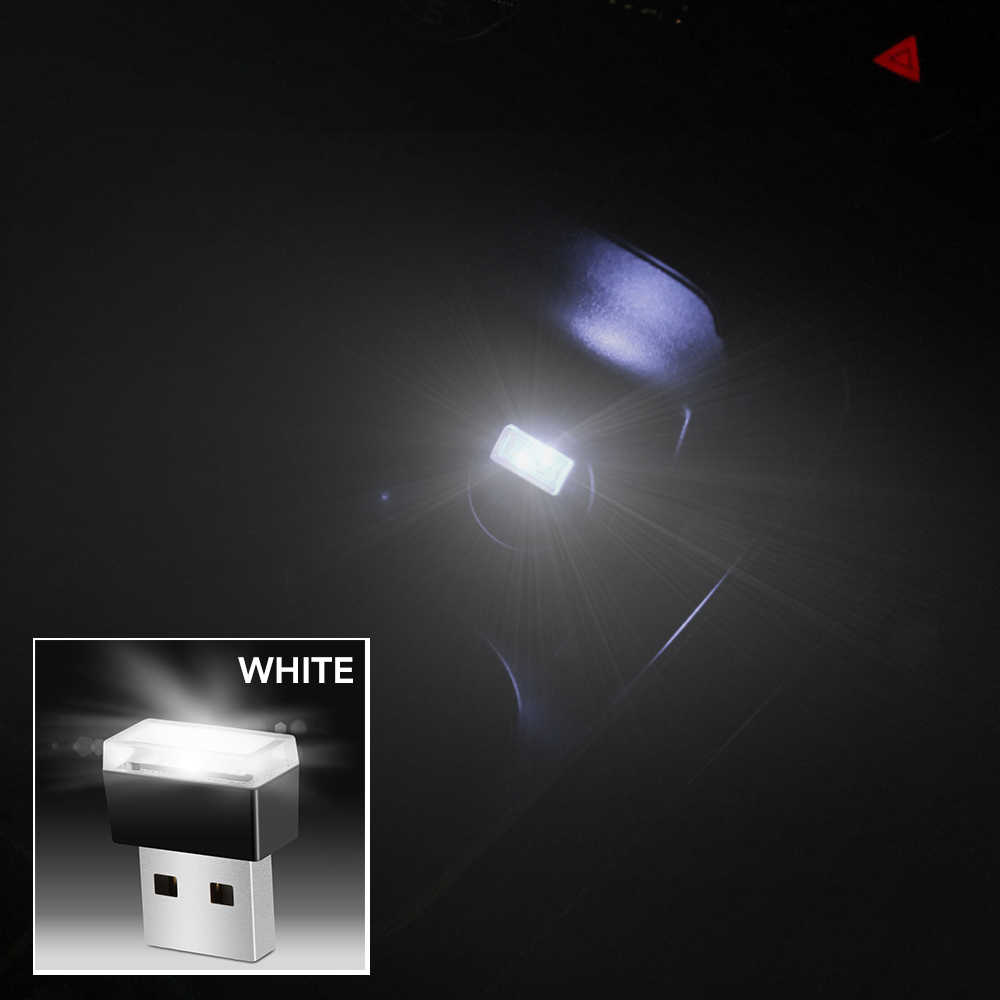 Mobil USB LED Suasana Lampu Dekoratif untuk Ford Fokus Mondeo Fiesta Mustang Edge Explorer F-150 F-250 Ecosport Kuga