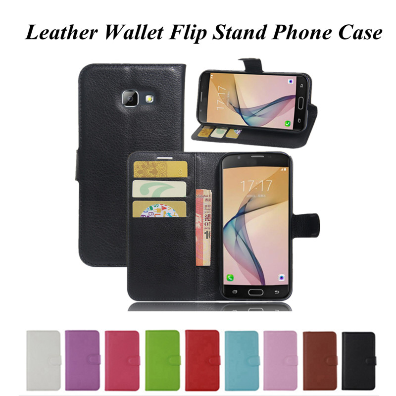 Litchi Wallet Flip PU Leather Funda Case Cover for Samsung Galaxy A3 A5 A7 A8 A9 J1 J2 J3 J5 J7 Prime 2016 2017 Stand Back Coque