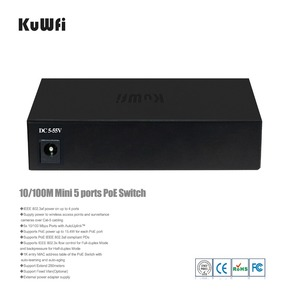 Image 3 - KuWfi 48V 10/100Mbps ネットワークスイッチプラグアンドプレイ 5 ポート高速スイッチ全二重 & 半二重 ap/カメラ