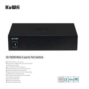 Image 3 - KuWfi 48V 10/100Mbps red enchufe interruptor y 5 puertos rápido cambio Full Duplex y medio dúplex para AP/cámara