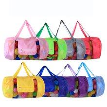 Beach Bag Portable Sand Dig Tool Storage Mesh Outdoor Kids Folding Oversized Backpack