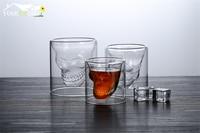 6pcs 150ml Skull Head Vodka Shot Glass Drinking Ware for Home Office Bar Set
