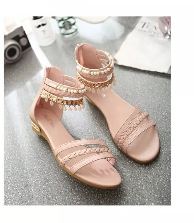 women sandals 2016 fashion Bohemia gladiator sandals women beading sandalias mujer wedges shoes for women 2016 new spring DT141 (10)