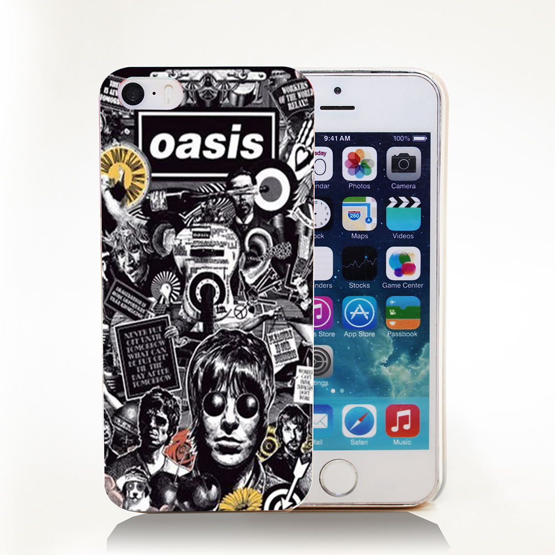 OASIS Band Hard Transparent Cover Case for iPhone 4 4s 5 5s 5c 6 6s Protect Phone Cases