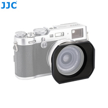 JJC Square Metal Camera Lens Hood for Fujifilm X70/X100/X100S/X100T/X100F Protector Adapter Ring Kit Compatible 49mm Filter Cap