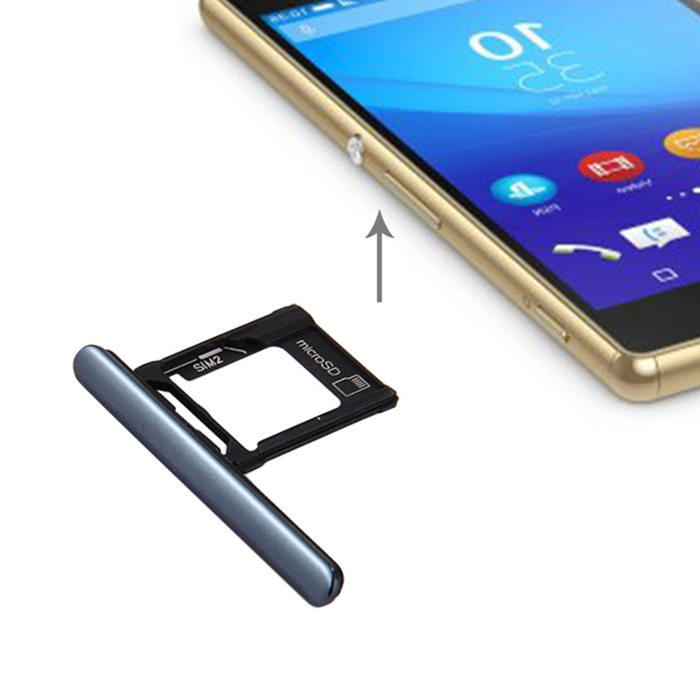 US $2 89 10% OFF|Micro SD / SIM Card Tray + Card Slot Port Dust Plug for  Sony Xperia XZ Premium (Dual SIM Version)-in SIM Card Adapters from