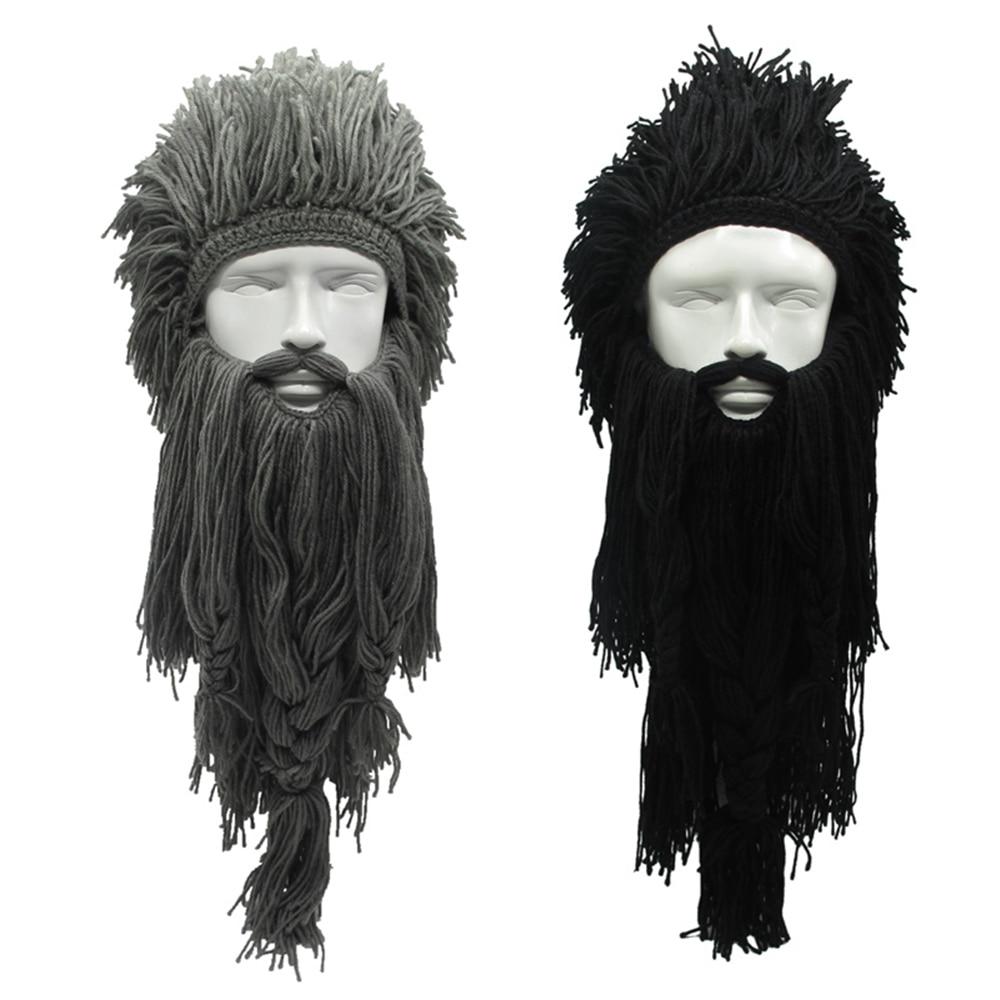 Criativo Bárbaro Gorro Chapéu de Halloween Cosplay Unisex Peruca Malha  Viking Louco Engraçado Beard Hat Inverno Quente Máscara De Esqui Cap 1efbbfd3c16
