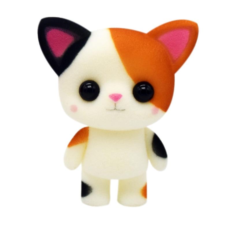 Flocking Cat Kids Toys For Girls Children Birthday Christmas Gift Soft Plush Stuffed Animal Backpack Keychain Pendant Doll
