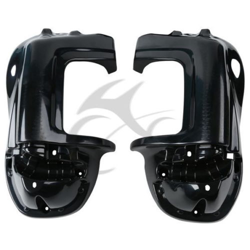 Black Lower Vented Leg Fairings Cap Glove Box For Harley-Davidson Touring Models Road King Electra Glide Ultra FLHR FLHT