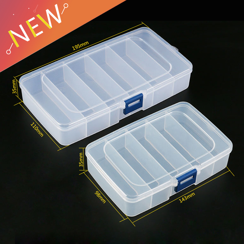 1pcs Plastic Tool Box Screws IC Jewelry Beads Fishing Storage Box Craft Organizer Small Part Container Case